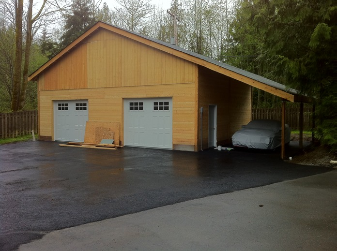 Completed barn with the doors and carport & Completed barn with the doors and carport | Green\u0027s Landscaping LLC Pezcame.Com